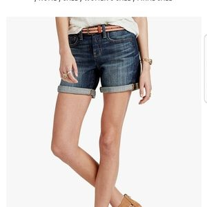"""NWT Lucky Brand """"the roll up"""" short"""